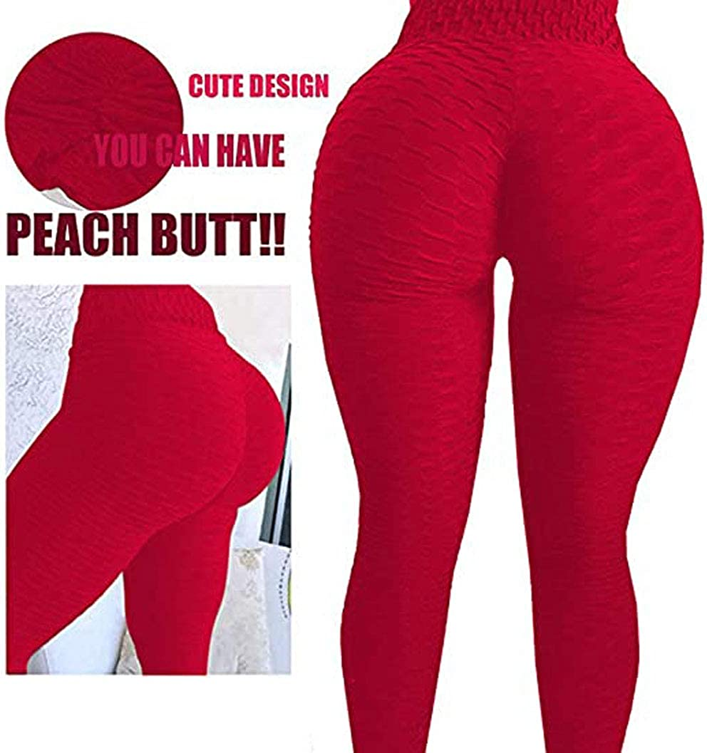 HAPPYEE Womens High Waist Yoga Pants Tummy Control Slimming Booty Leggings Workout Stretchy Butt Lift Ruched Tights