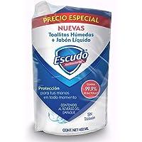 Escudo Toallitas Húmedas Antibacterial de 50´s y Jabón Líquido para Manos, 450 ml