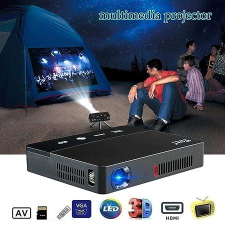 heresell Mini proyector Full HD Mini proyector portátil de Cine en ...