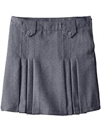 Girls' Front Pleated Skirt With Tabs