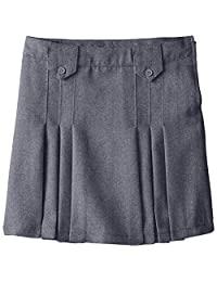French Toast Big Girls' Pleat and Tab Skirt