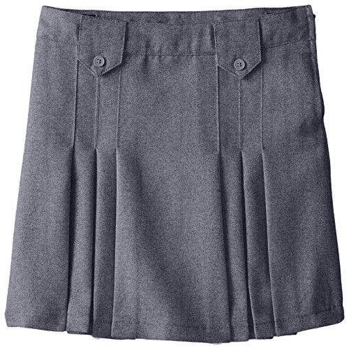 UPC 884503247656, French Toast Big Girls' Front Pleated Skirt with Tabs, Grey, 10