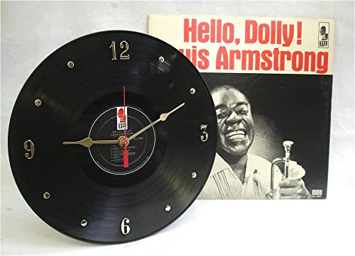 IT S OUR EARTH Louis Armstrong Recycled Vinyl Record Clock Hello, Dolly w Album Jacket