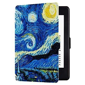 Huasiru Pintura Caso Funda para Kindle Paperwhite (Versiones 2012, 2013, 2015, 2016 y 2017), no es Compatible con la versión del 2018 (10.ª ...