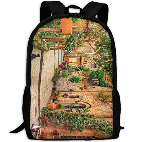 ZQBAAD Rustic Tuscan Style Italy Luxury Print Men And Women's Travel Knapsack by ZQBAAD