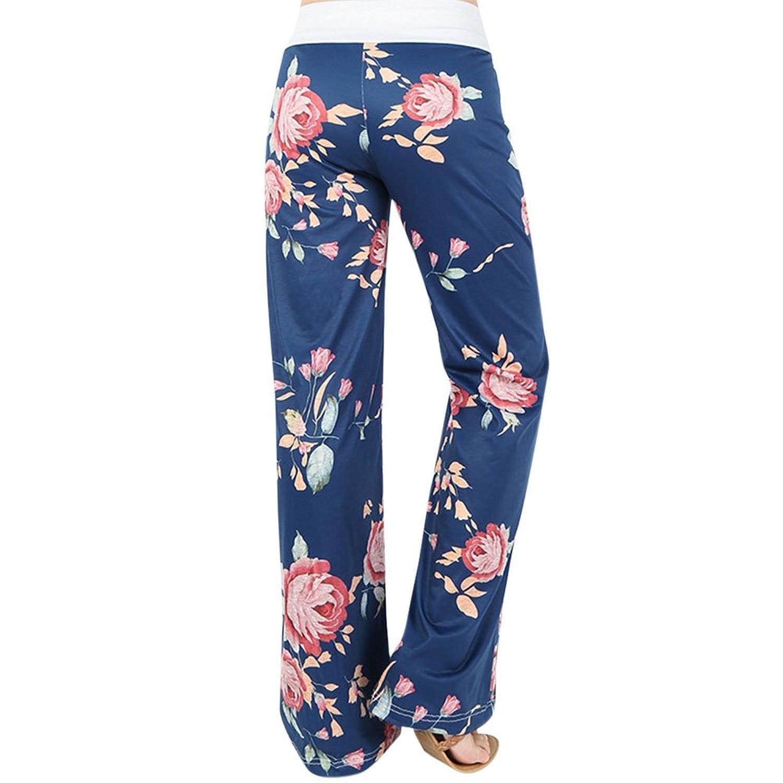 Petalum Damen Hose Herbst Elegant Casual Basic Lang Blumenmuster Locker  Freizeit Sport Sweatpants: Amazon.de: Bekleidung