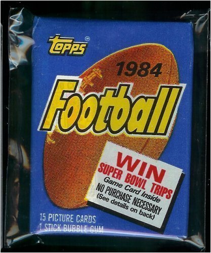 1984 Topps Football Cards Unopened Pack (Possible Dan Mar...