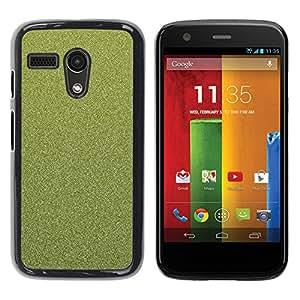 TopCaseStore / la caja del caucho duro de la cubierta de protección de la piel - Texture Floral Green - Motorola Moto G 1 1ST Gen I X1032