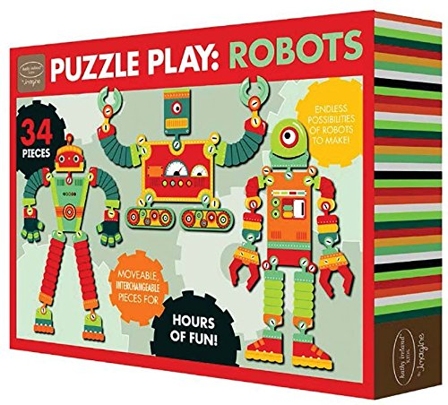 Design Your Own Robots Puzzle <br> (34 Piece)