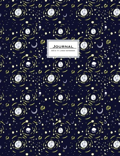 Journal (Diary, Notebook): 8.5 x 11, lined. Indigo moon. Soft Cover (Large Journal To Write In)