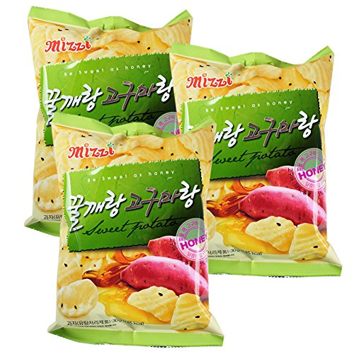 ROM AMERICA Korean Honey Sweet Potato Chips Snacks 90g 꿀깨랑 고구마랑