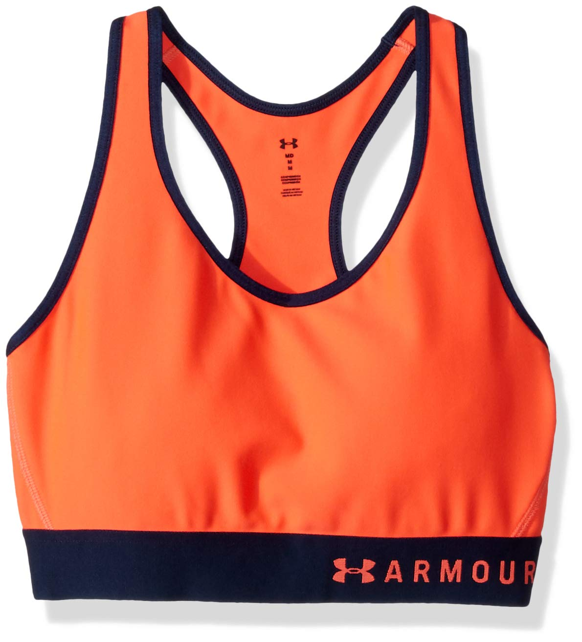 Under Armour womens Armour Mid Keyhole Sports Bra, After Burn (878)/After Burn, Small by Under Armour