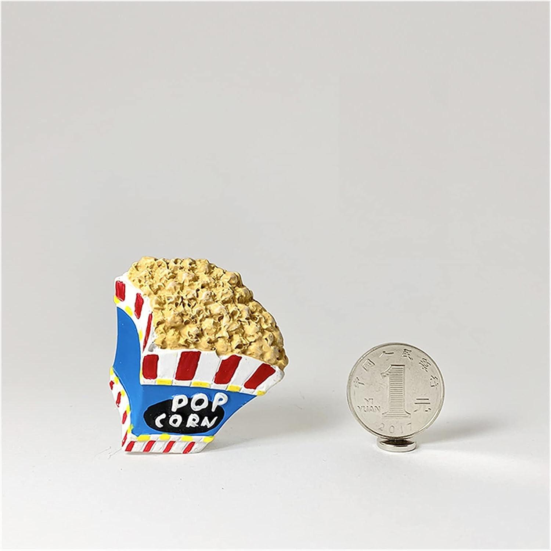 Fridge Magnets 3D Fridge Magnet Cake Biscuit Magnetic Refrigerator Paste Magnetic Paste Home Decoration (Color : Popcorn)