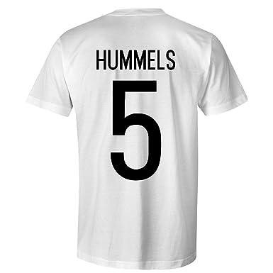 new arrival 735ce 21907 Mats Hummels 5 Germany International Football T-Shirt White ...