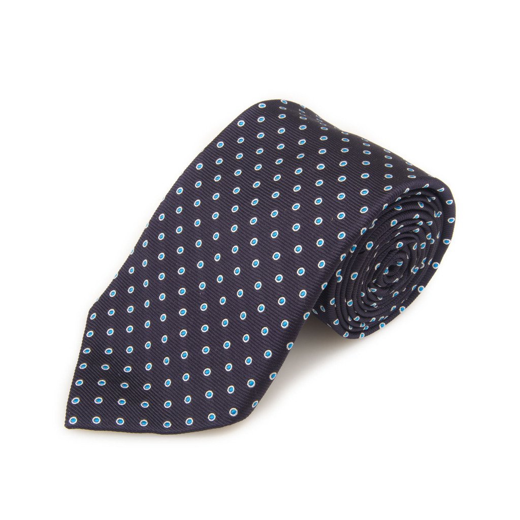 Robert Talbott Best Of Class Blue And Blue Dot Woven Silk Tie