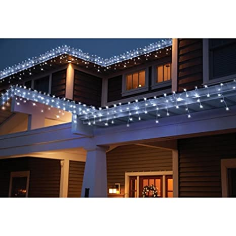 Holiday Time Count LED Star Icicle Christmas Lights, Cool White 764878 - Amazon.com : Holiday Time Count LED Star Icicle Christmas Lights