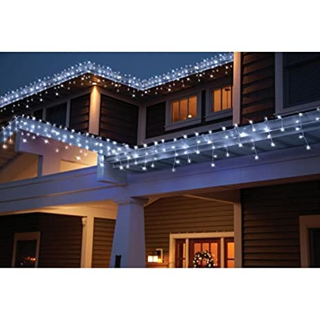 holiday time count led star icicle christmas lights cool white 764878 - Outdoor Icicle Christmas Lights