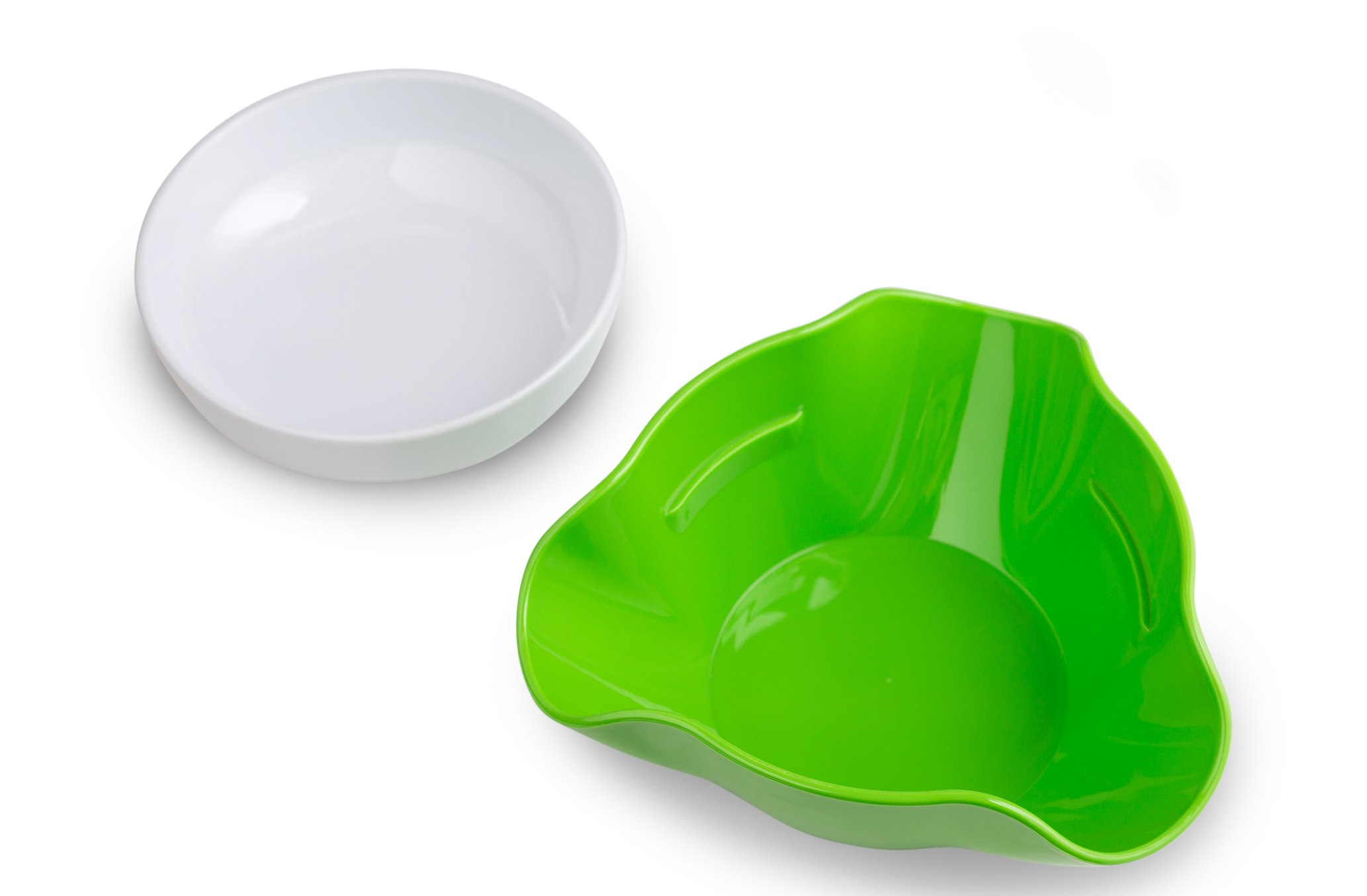 Pistachio Bowl with Shell Storage - Double Dish Snack Serving Bowl - for Pistachios, Peanuts, Edamame, Cherries, Nuts, Fruits, Candies - by Kitchen Winners by Kitchen Winners (Image #1)