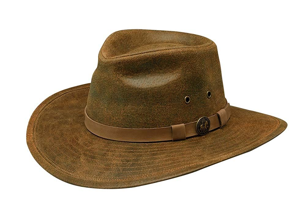 Outback Trading Hat Mens Kodiak Leather Water-Repellent L Brown 1356 924310