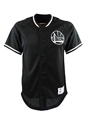 Mitchell   Ness NBA Golden State Warriors Pro Mesh Button Up Jersey  (Medium)  Amazon.co.uk  Sports   Outdoors 73829a31c