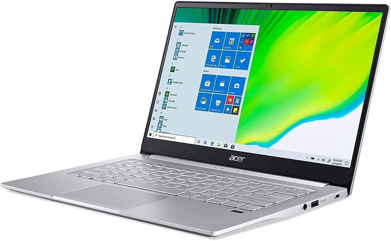 "Acer Swift 3 14"" FHD Premium Laptop | Intel Core i7-1165G7 | 8GB DDR4 | 512GB SSD | Backlit Keyboard | Fingerprint Reader | Windows 10 | Silver | with Mouse Pad Bundle"