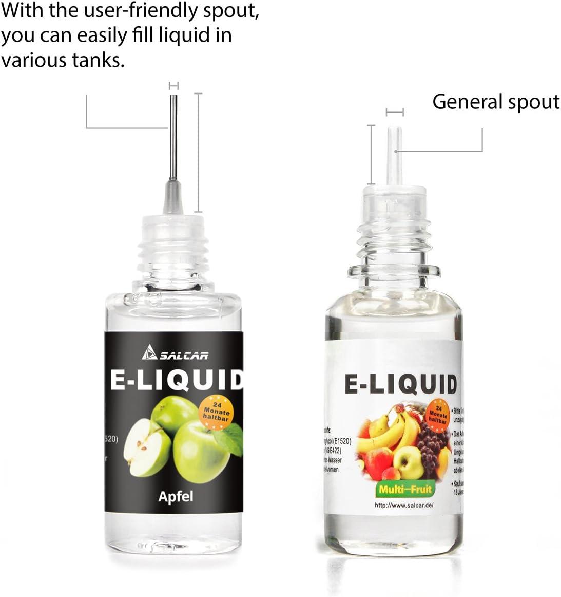 Salcar 5 x 10ML de Liquid para cigarrillo electrónico, VG70%/PG30 ...