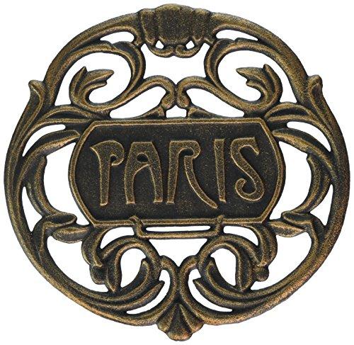 Old Dutch Paris Trivet, Antique Copper