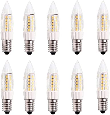 BTF E14 bombilla LED 4W, equivalente a 40W, 400LM, blanco cálido 3000K, No Regulable, AC220-240V,para refrigerado,máquina de coser,campana extractora,lámpara de araña,10 piezas: Amazon.es: Iluminación