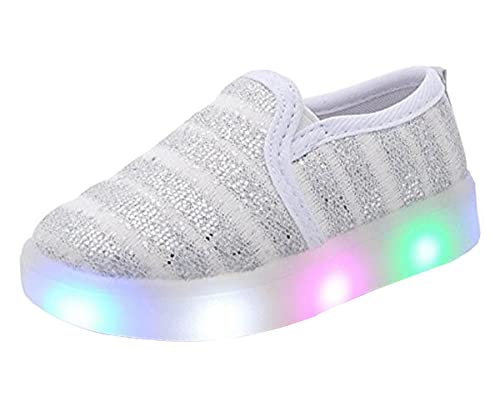 993d2ef9d72a8 Amazon.com | Otamise Girls' Light up Sequins Shoes Slip-on Flashing ...