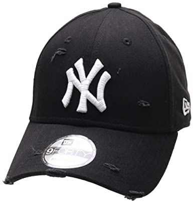 a7319f3c5ca New Era New York Yankees Distressed Seasonal 9FORTY Cap - Black ...