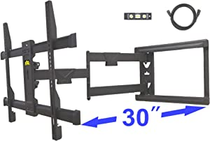 "FORGING MOUNT Long Extension TV Mount Corner Wall Mount TV Bracket Full Motion with 30 inch Long Arm for Corner/Flat Installation fits 32 to 70"" Flat/Curve TVs, VESA 600x400mm Holds up to 99lbs"