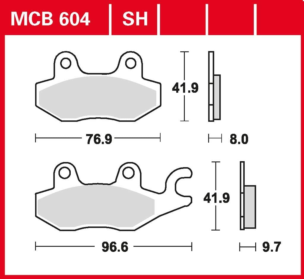 Bremsbelag TRW organischer Allround-Bremsbelag XTZ 750 Super Tenere H 3LD 89-97 hinten