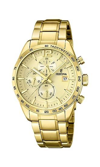 233bebeb0ea0 Festina Reloj Cronógrafo para Hombre de Cuarzo con Correa en Acero  Inoxidable F20266 1  Amazon.es  Relojes