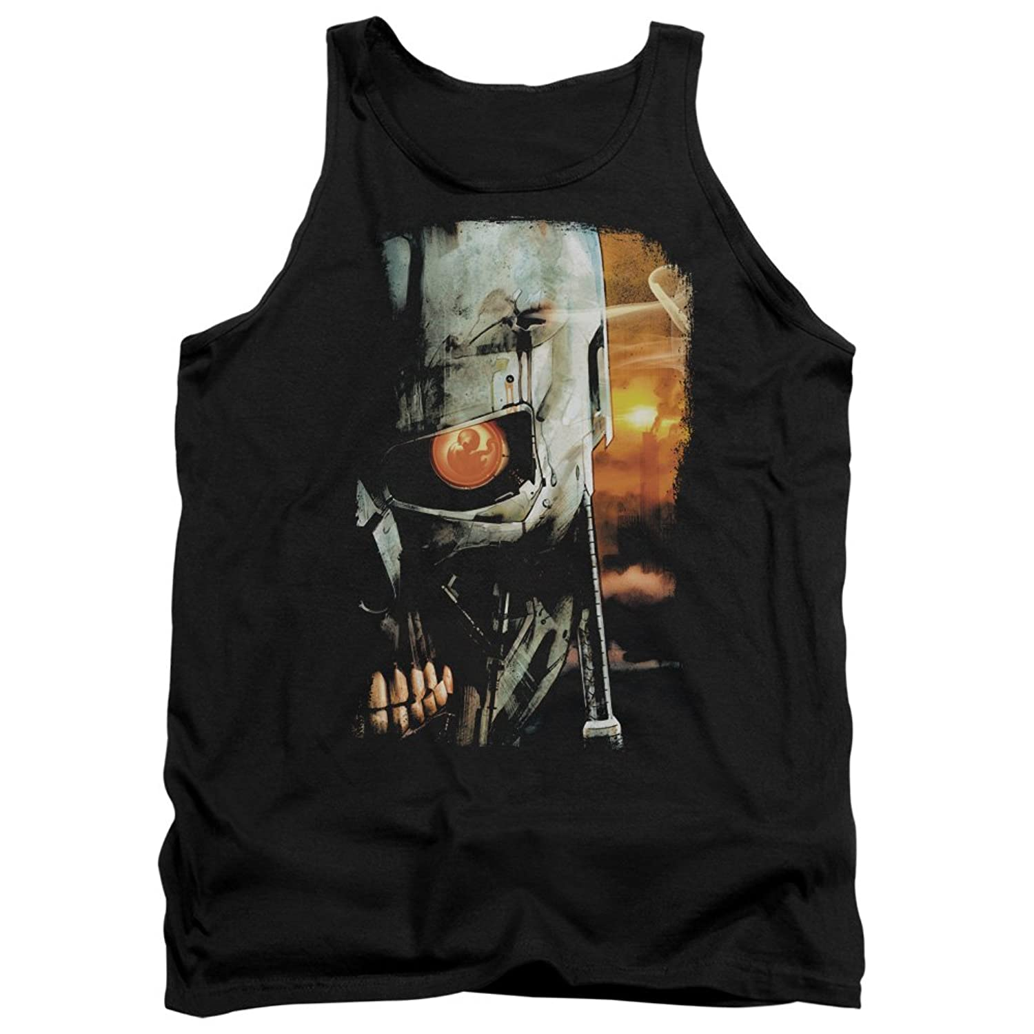 The Terminator 80s Sci-Fi Action Film Skull Sketch Adult Tank Top Shirt