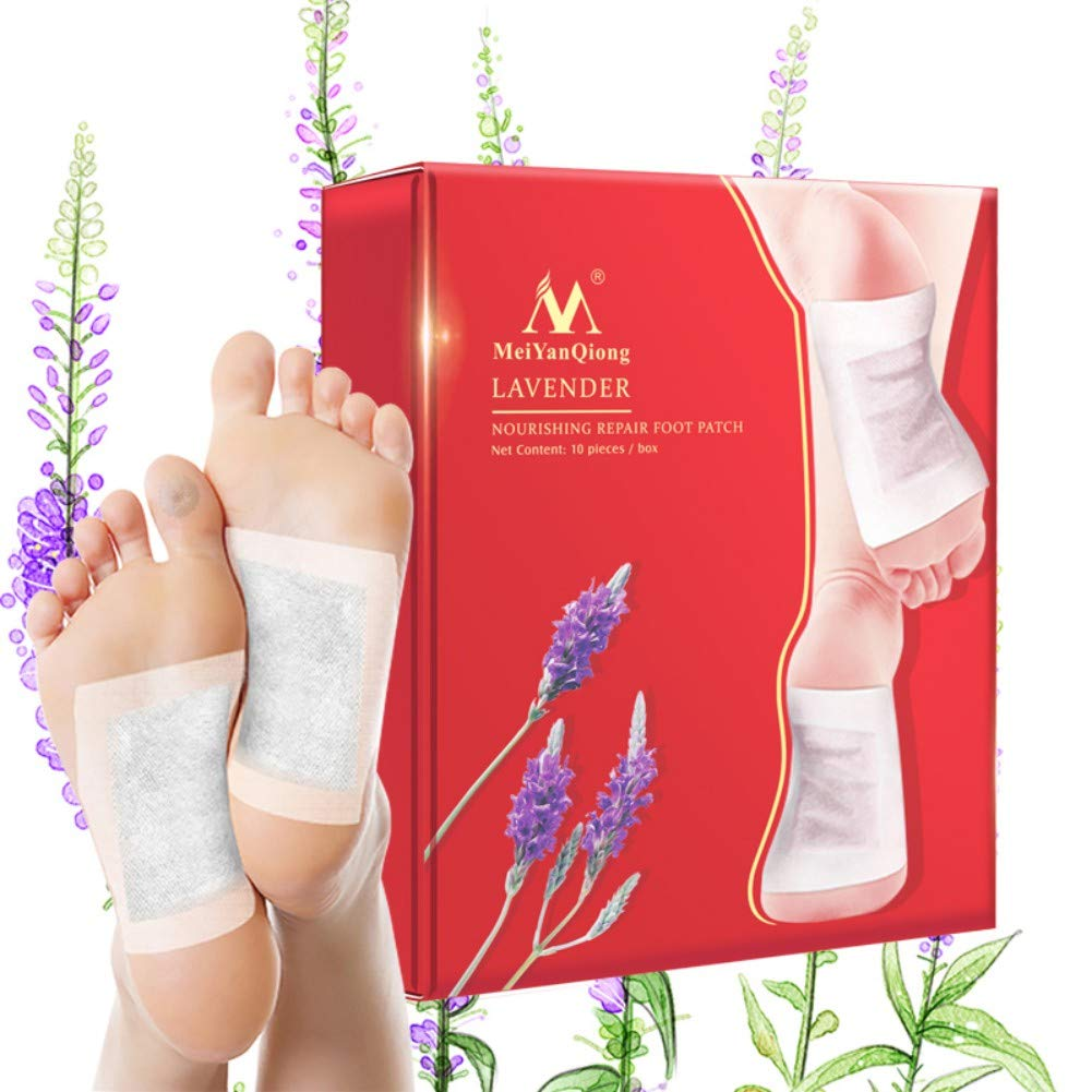 Ofanyia 10 Packs Foot Pads Bamboo Vinegar Extract Foot Patch for Better Sleep, Keeping Weight, Reducing Dysmenorrhea, Ance Remover