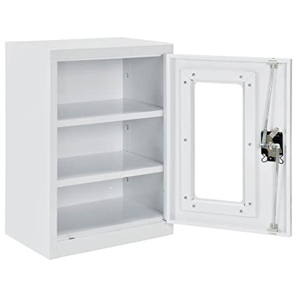 Assembled Clear View Wall Storage Cabinet 18x12x26 Off White  sc 1 st  Amazon.com & Amazon.com : Assembled Clear View Wall Storage Cabinet 18x12x26 ...