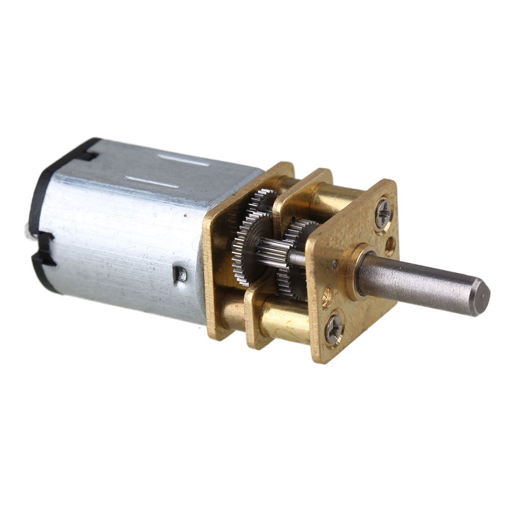 BQLZR 33x12mm 15RPM Silver Metal Mini DC 3V Gearbox Gearwheel Motor Mini Reduce Speed Geared Electric N20 Motor with 3mm Shaft Dia BQLZRN21353