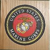 Custom Wood Military Plaques - US Marine Corps