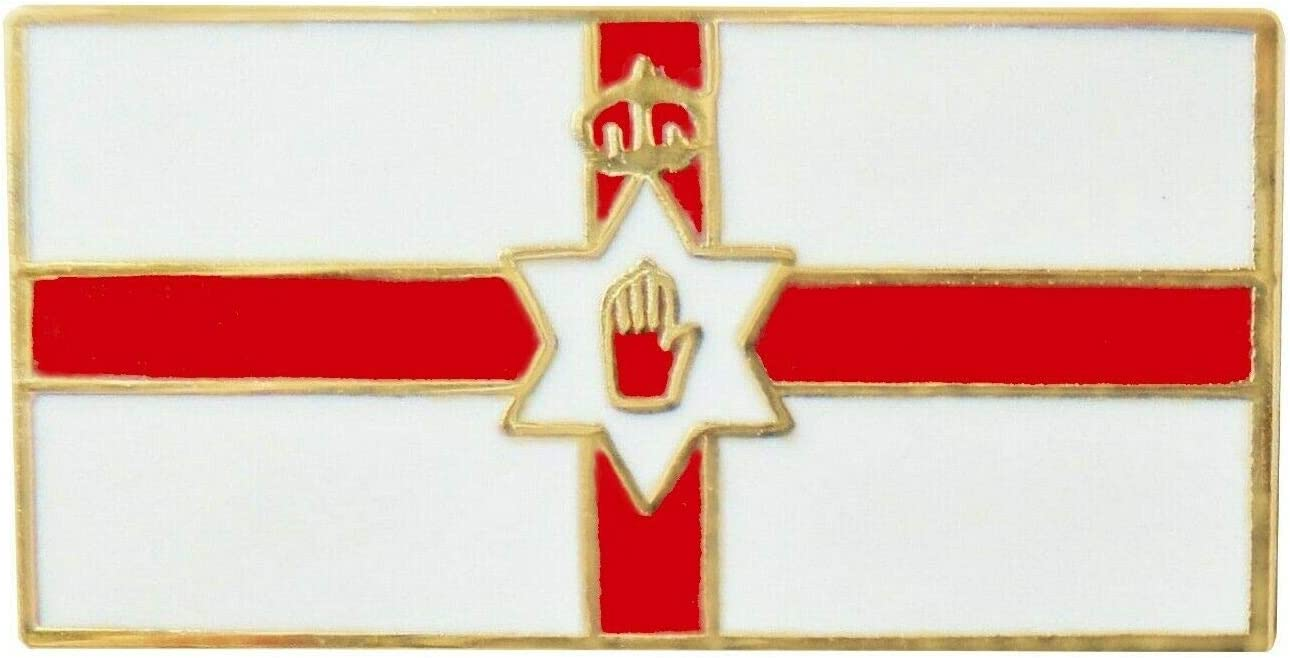 I LOVE NORTHERN IRELAND RED HAND OF ULSTER ENAMEL LAPEL BADGE FREE UK POSTAGE