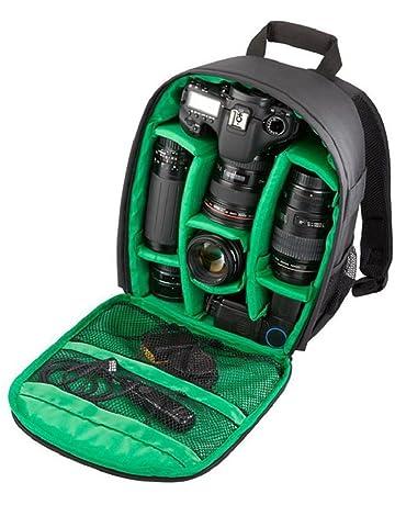 heekpek Cámara Bolsa DSLR Mochila Impermeable a Prueba De Agua para Sony Nikon Canon con Soporte