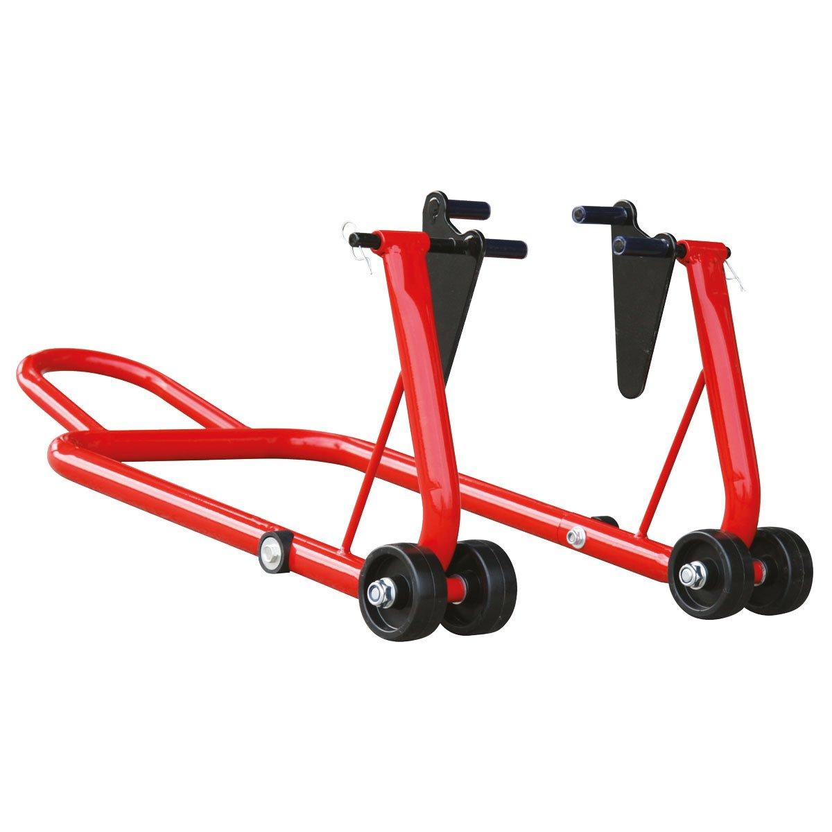 CABALLETE para MOTO soporte elevador trasero universal DESMONTABLE - Hasta 200KG - Robusto, 4 ruedas RZ TOOLS: Amazon.es: Coche y moto