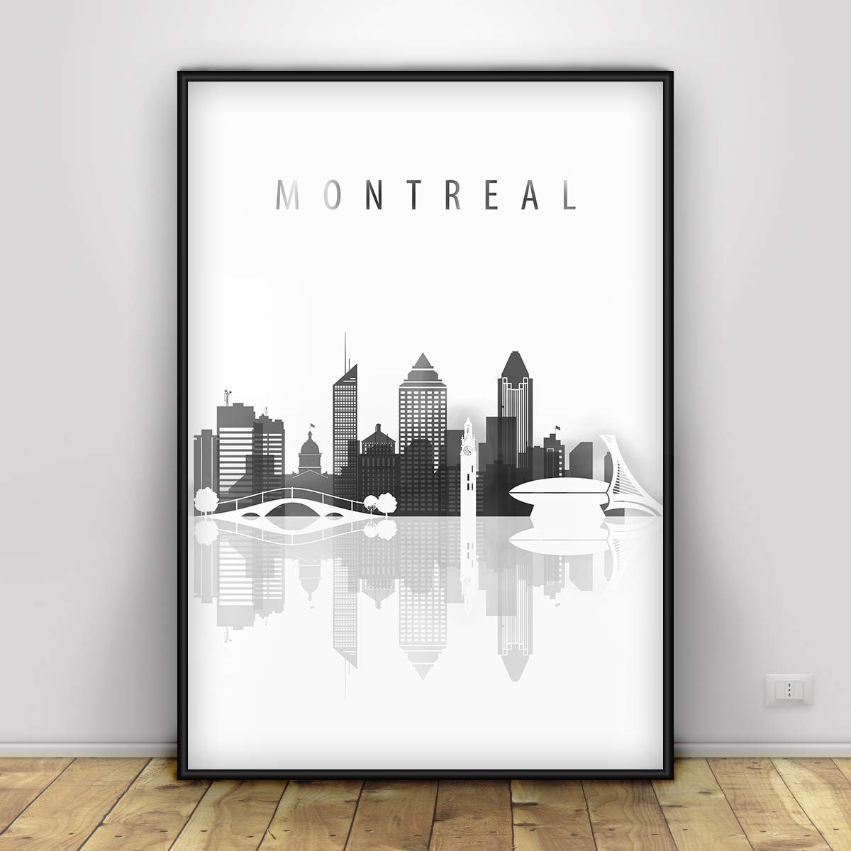 Quebec Canada Coordinates Black /& White World City Travel Quote Poster Print