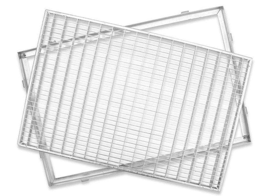 Gr/ö/ße Gitterroste 80 x 50 cm ACO versch Gr/ö/ßen Schuhabstreifer Gitterrost mit Zarge MW 30//10mm
