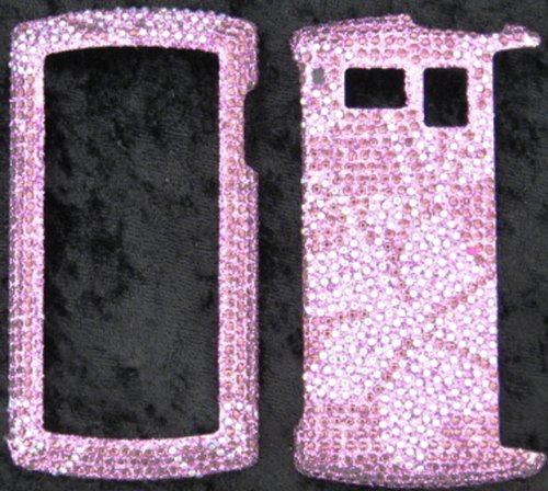 FULL DIAMOND CRYSTAL STONES COVER CASE FOR SANYO INCOGNITO 6760 PURPLE - Faceplates Sanyo Hard