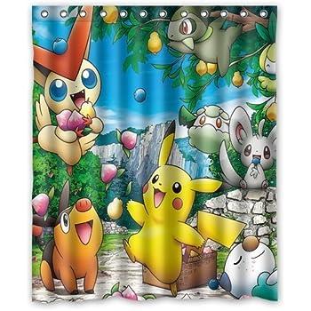 Franco Pokemon Shower Curtain Durable Modeling