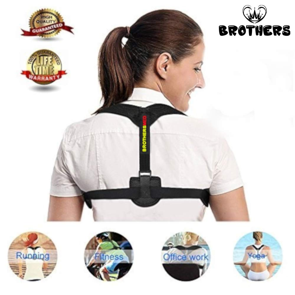 Posture Corrector for Women & Men, Orthopedic Back Support,Fully Adjustable, Breathable and Comfortable Support Brace,Upper Back & Neck Pain Relief by Brothers (Image #6)