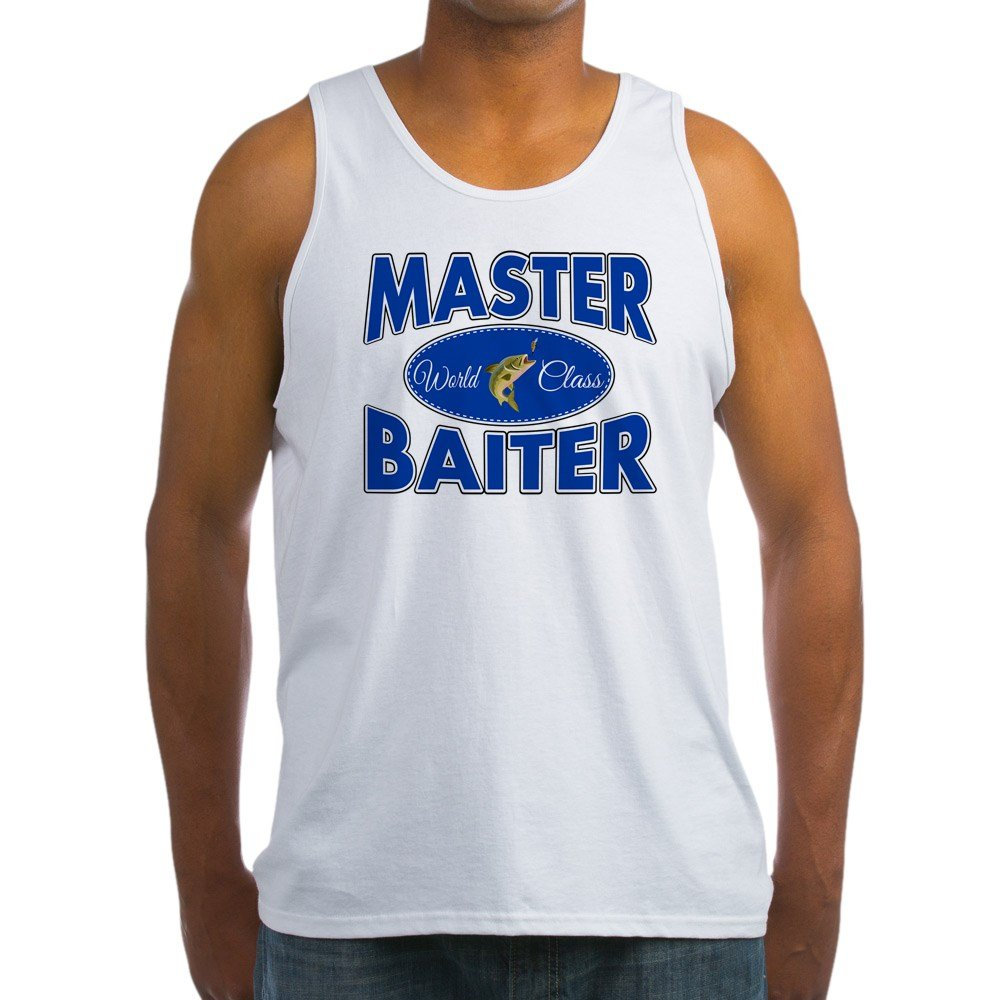 Royal Lion Mens Tank Top Fishing Master Baiter with Lure