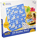 100 number board - Learning Resources LER1332 120 Number Board, 181 Pieces