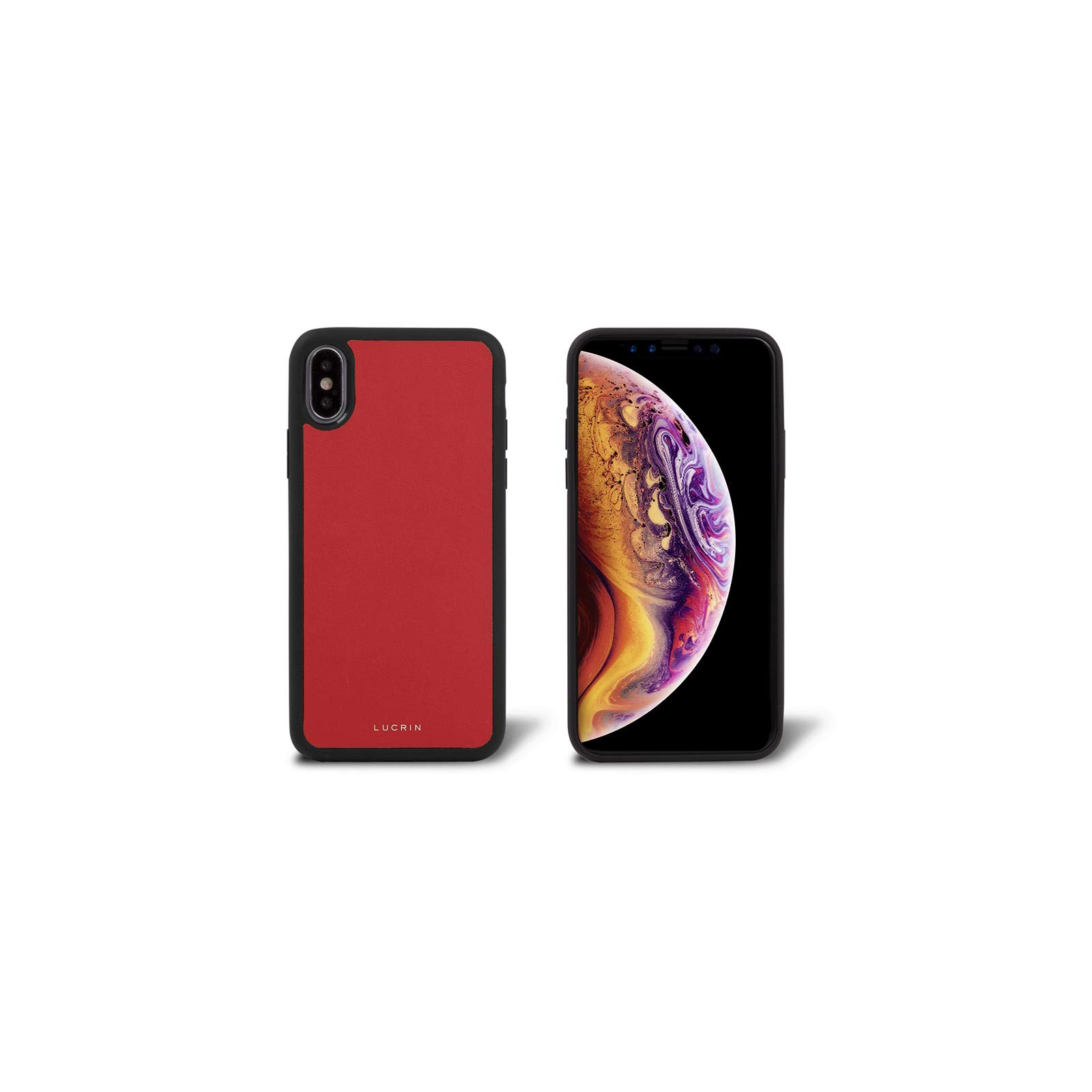 Lucrin - iPhone Xs Max Cover - Red - Genuine Leather by Lucrin