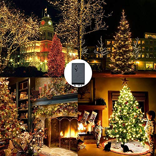 204 LEDs String Lights Outdoor, Soft Brightness Net Mesh Lights, Dimmable Net Lights with 8 Flash Modes Controller, Dark Green Cable Wire, Decorations for Christmas Tree, Wedding, Patio (Warm White) ()